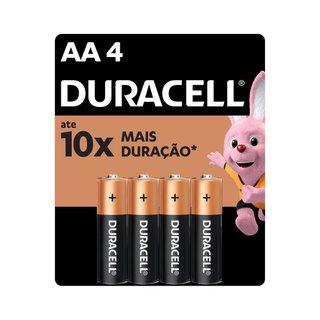 Pilha Alcalina Duracell Aa C/4 Unidades