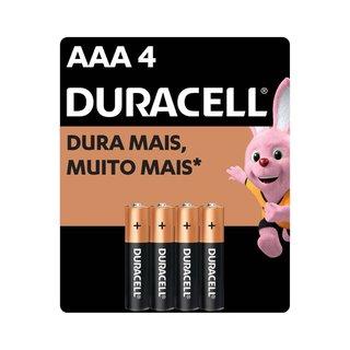Pilha Alcalina Duracell Aaa C/4 Unidades