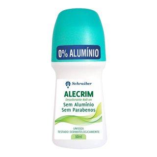 Desodorante Schraiber Rollon Alecrim, Sem Aluminio E Sem Parabenos 50ml