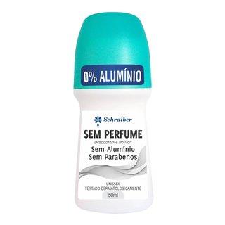 Desodorante Schraiber Rollon Sem Perfume, Sem Aluminio E Sem Parabenos 50ml