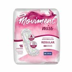 Absorvente Para Incontinência Bigfral Moviment Miss Regular Com 16 Unidades