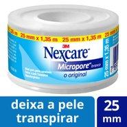 Fita Micropore Branca Nexcare. Rolo De 25mm X 1,35m