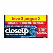 Creme Dental Closeup Proteção Bioativa Bloqueio Anticáries Leve 3 Pague 2