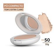 Pó Compacto Episol Color Pele Extra Clara Fps 50