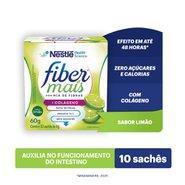 Regulador Intestinal Fiber Mais Colágeno Mix De Fibras Sabor Limão 60g
