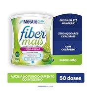 Regulador Intestinal Fiber Mais Colágeno Mix De Fibras Sabor Limão 300g