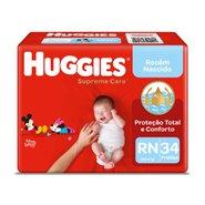 Fralda Huggies Supreme Care Mega Rn Com 34 Unidades