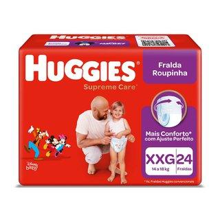 Fralda Huggies Supreme Care Mega Roupinha Xxg Com 24 Unidades