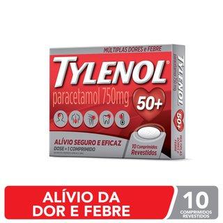 Analgésico Tylenol 750mg Com 10 Comprimidos Revestidos