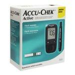 """Kit Monitor De Glicemia Accu-Chek Active """"No Code"""""""