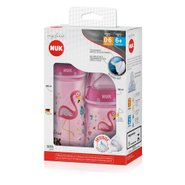 Kit Mamadeira Nuk My First 150ml Tam1 + 300ml Tam2 Girl