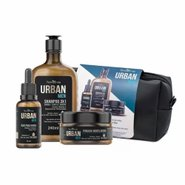 Kit Urban Men Ipa Beer Shampoo 3em1 240ml + Oleo Para Barba 30ml + Pomada 50g Gts Necesseire,
