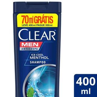 Shampoo Clear Ice Cool Menthol Com Desconto Especia 400ml
