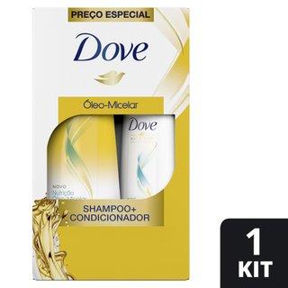 Kit Dove Nutrição Óleo Micelar Shampoo 400ml+ Condicionador 200ml