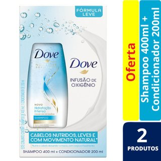 Kit Dove Hidratação Intensa Oxigenio Shampoo 400ml + Condicionador 200ml