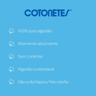 Hastes Flexíveis Cotonetes® 150 Unidades