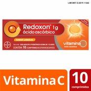 Redoxon 1g Vitamina C Sabor Laranja Com 10 Comprimidos Efervescentes