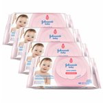Kit Johnson's Baby Toalhas Umedecidas Extra Cuidado 48 unidades - Leve 4 Pague 3