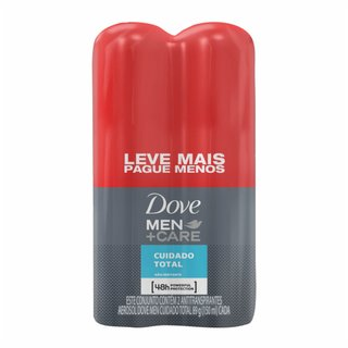 Kit Desodorante Aerosol Dove Men+ Care Cuidado Total Leve Mais Pague Menos 2 Unidade 150ml