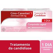 Gino Canesten 500mg  1 Comprimido Vaginal Com Aplicador