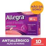 Allegra 60mg Com 10 Comprimidos