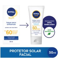 Protetor Solar Facial Nivea Sun Toque Seco Antissinais Fps 60 50ml