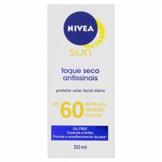 Protetor Solar Facial Nivea Sun Toque Seco Antissinais Fps 60 50ml