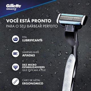 Carga Para Aparelho De Barbear Gillette Mach3 Com 2 Unidades