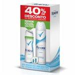 Kit Desodorante Rexona Aerossol Cotton 105g + Comprimido Com 40%Desconto