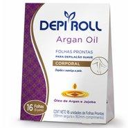 Folha Depilatória Depilroll Corporal Argan Oil 16 Unidades