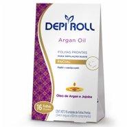 Folha Depilatória Facial Depiroll Argan Oil 16 Unidades
