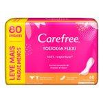 Protetor Diario Carefree Todo Dia Flexi Sem Perfume Leve 80 Pague 60