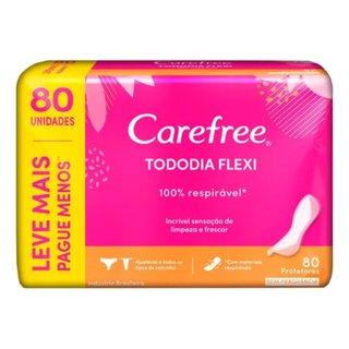 Protetor Diário Carefree® Todo Dia Flexi Sem Perfume Leve 80 Pague 60