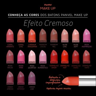 Batom Panvel Make Up Cremoso Coral Ardente