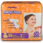 Fralda Panvel Baby Clube Tamanho G Com 20 Unidades
