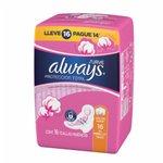Absorvente Always P.Total Suave C/Abas L16p14