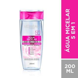 Água Micelar L'oréal Solução De Limpeza Facial 5 Em 1 200ml