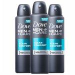 Kit Desodorante Dove Men Care Clean Comfort Aerosol - Leve 3 Pague 2