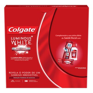 Kit Creme Dental Branqueador Colgate Luminous Brilliant White