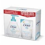 Kit Baby Dove Hidratacao Enriquecida Sabonete Liquido 200ml + Refil Com 50% De Desconto