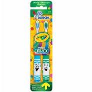 Escova Dental Gum Crayola Pip-squeaks Ultrasoft 2 A 5 Anos