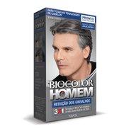 Tintura Biocolor Homem Redução De Grisalhos