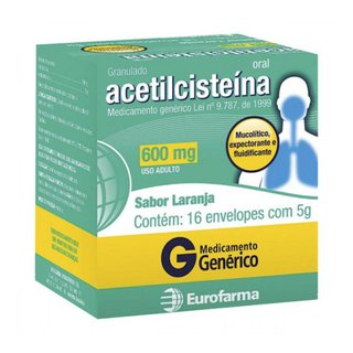 Acetilcisteina 600mg 16x5g  Eurofarma  Genérico L