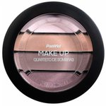 Quarteto De Sombras Panvel Make Up Borgonha