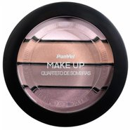 Quarteto De Sombras Panvel Make Up Borgonha 7g