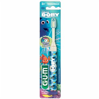 Escova Dental Gum Finding Dory Macia Timer Light +3 Anos