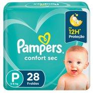 Fralda Pampers Confort Sec Pacotão P Com 28 Unidades