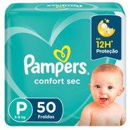 Fralda Pampers Confort Sec Mega P Com 50 Unidades