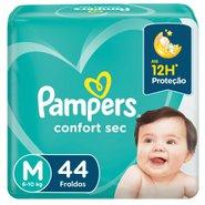 Fralda Pampers Confort Sec Mega M Com 44 Unidades