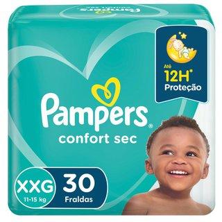Fralda Pampers Confort Sec Mega Xxg Com 30 Unidades